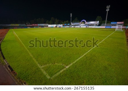 Krabi, Thailand - 18 December 2014: Football stadium in Krabi Town, capital of Krabi province, Thailand. - stock photo