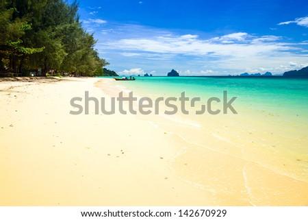 Kradan Island, an island in the Andaman Sea, Thailand - stock photo