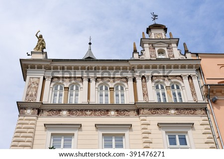 KRAKOW, POLAND - JULY 2, 2009: One of 47 buildings that boast considerable historical or architectural value at the grand square (aka main market square)
