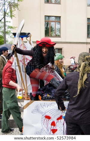 KRAKOW, POLAND - MAY 07: Juwenalia (Iuvenalia - Juvenalia), is an annual students' holiday in Poland, usually celebrated for three days in late May. May 07, 2010 in Krakow, Poland - stock photo