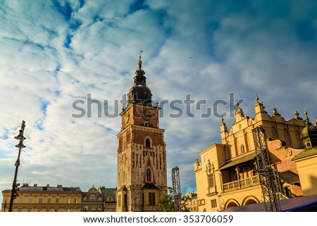 KRAKOW, POLAND - SEPTEMBER 15: The streets of Krakow , Poland on September 25, 2015
