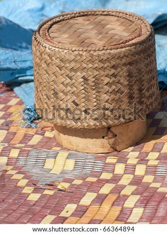 kratip rice - stock photo
