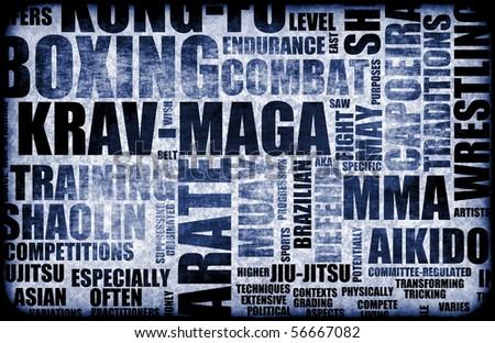 Krav Maga Martial Arts as a Fighting Style - stock photo
