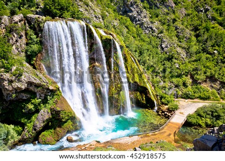 Krcic waterfall in Knin scenic view, Dalmatian inland, Croatia