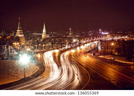 Kremlin view at night