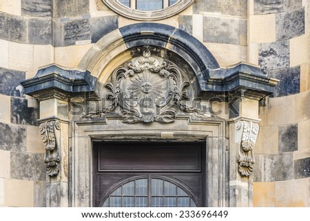 Kreuzkirche (Church of Holy Cross), Evangelical Church. Nikolaikirche (St. Nicholas Church) was built in 1215 and was deconsecrated in 1388 as Kreuzkirche. - stock photo