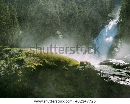 Krimml Waterfall is the highest waterfall in Austria. Several viewing platforms are around the hiking path.