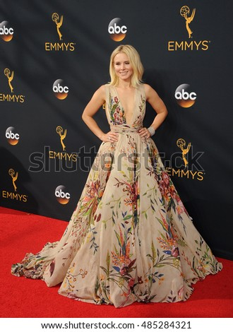Kristen Bell at the 68th Annual Primetime Emmy Awards held at the Microsoft Theater in Los Angeles, USA on September 18, 2016.