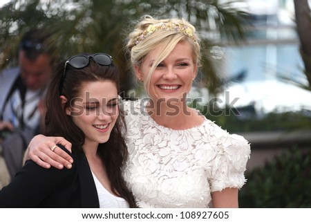 Kristen Stewart and Kirsten Dunst at the 'On the Road' photocall during the 65th Cannes Film Festival, Cannes, France. 23/05/2012 Picture by: Henry Harris / Featureflash - stock photo
