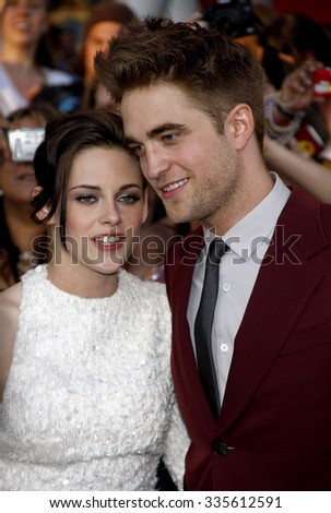 """Kristen Stewart and Robert Pattinson at """"The Twilight Saga: Eclipse"""" Los Angeles Premiere held at the Nokia Live Theater in Los Angeles, California, United States on June 24, 2010.  - stock photo"""