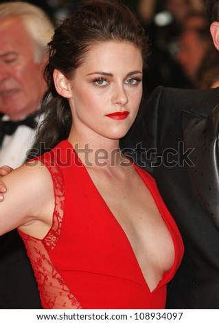 Kristen Stewart arriving for the 'Cosmopolis' premiere during the 65th annual Cannes Film Festival, Cannes, France. 25/05/2012 Picture by: Henry Harris / Featureflash