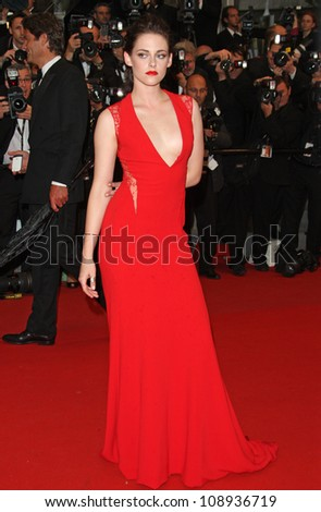Kristen Stewart arriving for the 'Cosmopolis' premiere during the 65th annual Cannes Film Festival, Cannes, France. 25/05/2012 Picture by: Henry Harris / Featureflash - stock photo