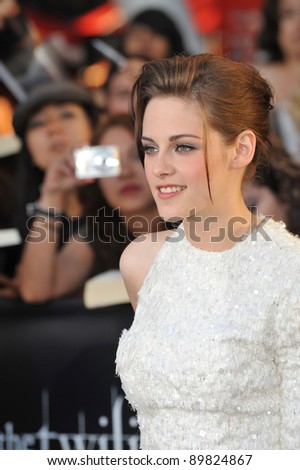 "Kristen Stewart at the premiere of her new movie ""The Twilight Saga: Eclipse"" at the Nokia Theatre at L.A. Live. June 24, 2010  Los Angeles, CA Picture: Paul Smith / Featureflash - stock photo"