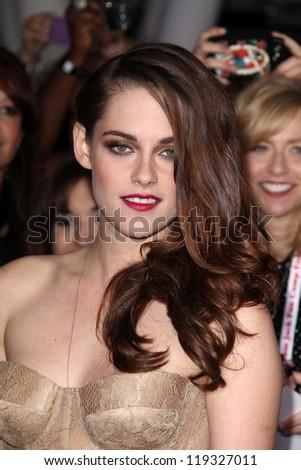"Kristen Stewart at ""The Twilight Saga: Breaking Dawn - Part 2"" World Premiere, Nokia Theatre, Los Angeles, CA 11-12-12 - stock photo"