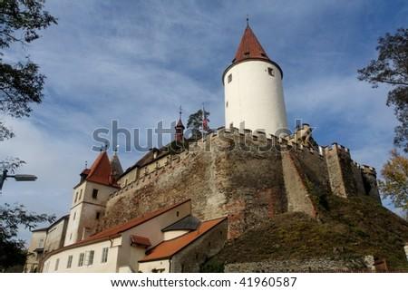 Krivoklat castle - stock photo