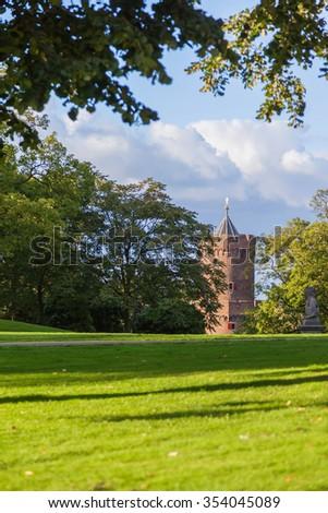 Kronenburger park in Nijmegen, The Netherlands - stock photo