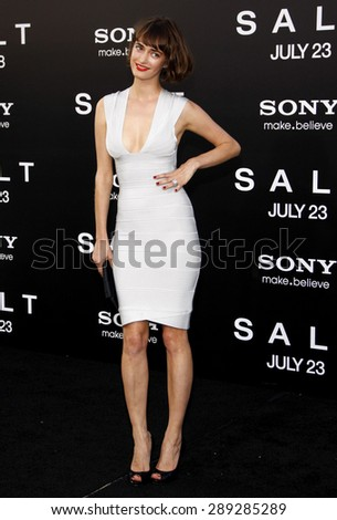 """Krysten Ritter at the Los Angeles premiere of 'Salt"""" held at the Grauman's Chinese Theatre in Hollywood on July 19, 2010.  - stock photo"""