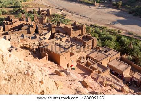 Ksar of Ait Ben Hadu, Morocco - stock photo