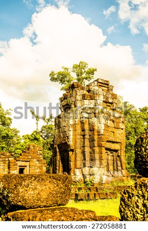 Ku Santaratana pagoda, the ancient pagoda in Thailand - stock photo