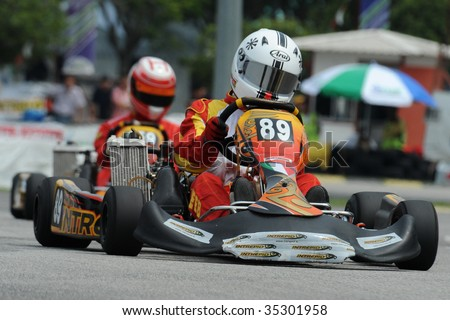 KUALA LUMPUR - AUGUST 15 : participant in the round 5, Asian Rotax Max Challenge on August 15, 2009 in Kuala Lumpur, Malaysia