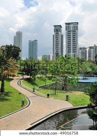 Kuala Lumpur city center - stock photo