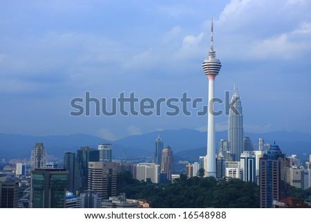 Kuala Lumpur City Centre Skyline - stock photo