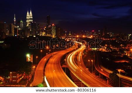 Kuala Lumpur is the capital city of Malaysia. - stock photo