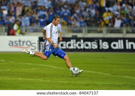 KUALA LUMPUR, July 21 : Chelsea's Frank Lampard warm-up during a preseason match agains Malaysia on July 21, 2011 in Kuala Lumpur, Malaysia. Chelsea won 1-0 - stock photo