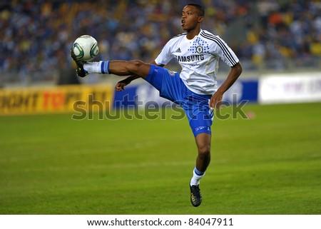 KUALA LUMPUR, July 21 : Chelsea's Nathaniel Chalobah warm-up during a preseason match agains Malaysia on July 21, 2011 in Kuala Lumpur, Malaysia. Chelsea won 1-0 - stock photo