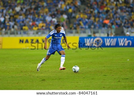 KUALA LUMPUR, July 21 : Chelsea's Patrick Van Aanholt in action during a preseason match agains Malaysia on July 21, 2011 in Kuala Lumpur, Malaysia. Chelsea won 1-0 - stock photo