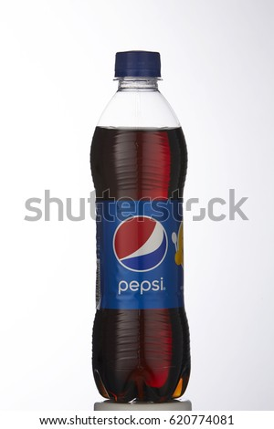Kuala Lumpur, Malaysia- 10 april 2017,Pepsi soft drink. Pepsi is a carbonated soft drink produced and manufactured by PepsiCo Inc. an American multinational food and beverage company.