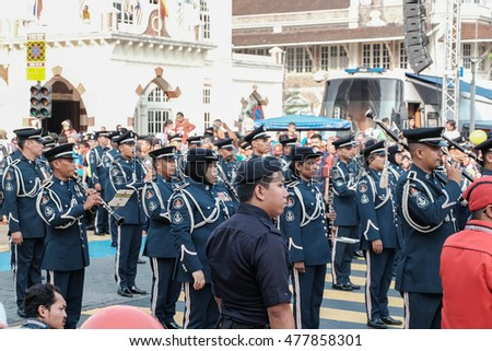 KUALA LUMPUR, MALAYSIA: 31 AUGUST 2016 - Malaysian Independence Day Parade on August 31, 2016 is held in commemoration of Malaysia's Independence Day at Dataran Merdeka.