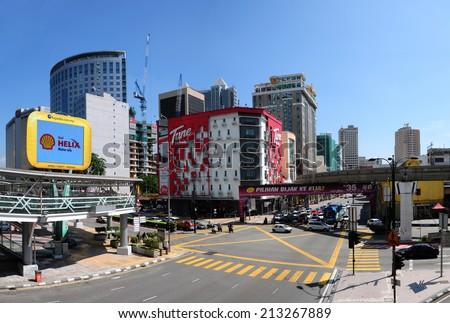 KUALA LUMPUR, MALAYSIA - AUGUST 24: Part view of  Kuala Lumpur Cityscape on August 24, 2014  - stock photo