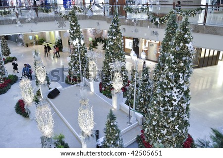 KUALA LUMPUR, MALAYSIA - DEC 9: Decoration of Christmas for year 2009 in The Garden Mall on Dec 9, 2009 at Mid Valley City, Kuala Lumpur. - stock photo