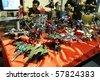 KUALA LUMPUR, MALAYSIA - JULY 25 : A vintage collections of Robotech toys displayed on Malaysia International Toy Fair July 25, 2010 at Mid Valley, Kuala Lumpur Malaysia - stock photo