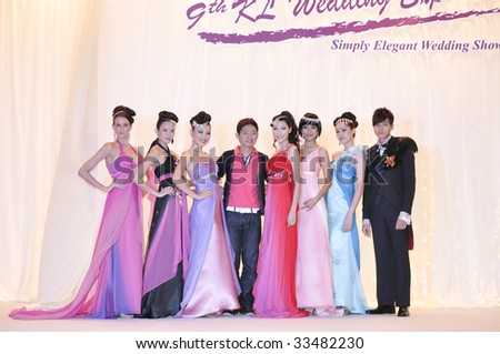 KUALA LUMPUR, MALAYSIA - JULY 11: Fashion show by Keith Kee during KL Wedding Expo 2009 on July 11, 2009 at Mid Valley Exhibition Centre, Kuala Lumpur.