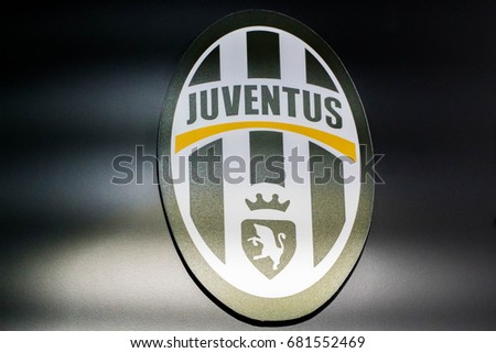 KUALA LUMPUR, MALAYSIA - JULY 11, 2017: Juventus Football Club is a professional Italian football club in Turin, Piedmont, founded in 1897.