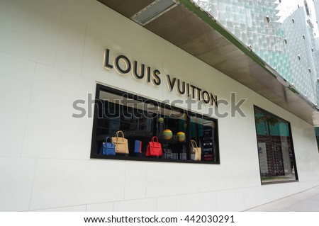 KUALA LUMPUR, MALAYSIA - June 23, 2016: Louis Vuitton shop at Bukit Bintang, Kuala Lumpur. Louis Vuitton is a France luxury leather goods company. Founded in Paris, France since 1854.
