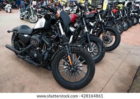 KUALA LUMPUR, MALAYSIA - MAY 29, 2016: Harley Davidson bike. Harley-Davidson, Inc. (H-D), or Harley, is an American motorcycle manufacturer, founded in Milwaukee, Wisconsin in 1903. - stock photo
