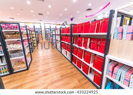 KUALA LUMPUR, MALAYSIA - MAY 30, 2016 : Paper flower shop at Setia Mall, Setia Alam, Selangor. - stock photo