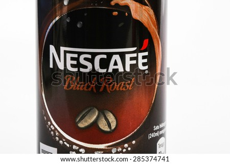 KUALA LUMPUR, MALAYSIA - MAY 11TH, 2015. Nescafe is a brand of instant powdered coffee made by Nestle S.A, a Swiss multinational food and beverage company, first introduced on April 1, 1938.