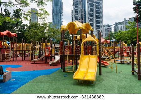KUALA LUMPUR, MALAYSIA   02 NOV 2014: Colorful Play Ground Outdoors For  Children In