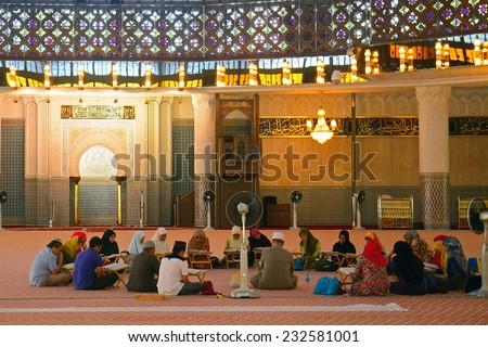 KUALA LUMPUR, MALAYSIA - NOVEMBER 15: National Mosque on November 15, 2014 in Kuala Lumpur, Malaysia. Malaysia's official religion is Islam. - stock photo