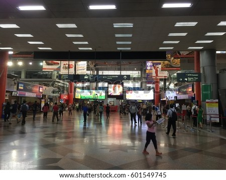 Kuala Lumpur, Malaysia on 16th March 2017. KL Sentral is a busy station in Kuala Lumpur and always crowded with people who want to take trains, buses, LRT etc