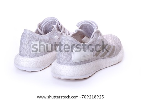 Kuala Lumpur, Malaysia - September 5, 2017: Picture of adidas Pure Boost White