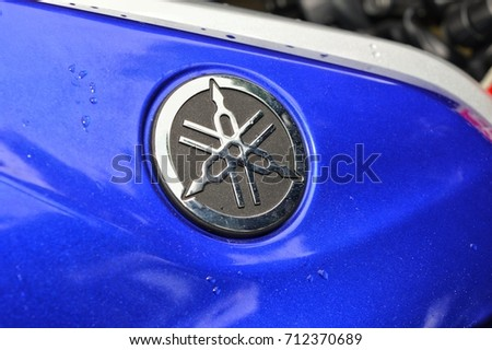 Kuala Lumpur, Malaysia, 2 September 2017: Yamaha logo. Yamaha Motor Company Limited is a Japanese manufacturer of motorcycles, marine products such as boats and outboard motors.