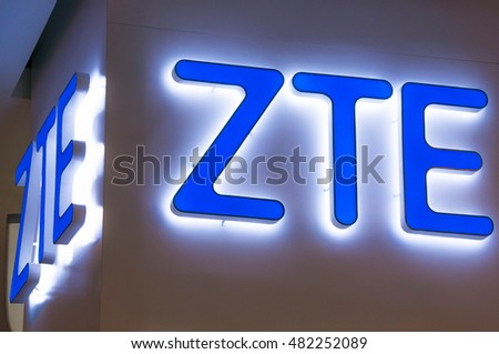 KUALA LUMPUR, MALAYSIA - SEPTEMBER 10, 2016: ZTE Corporation logo. ZTE Corporation is a Chinese multinational telecommunications equipment and systems company headquartered in Shenzhen, Guangdong.