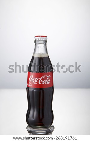 Kuala Lumpur,Malaysia 9th April 2015, bottle of Coca-Cola - stock photo