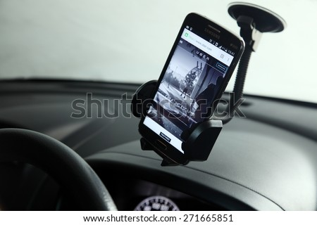 Kuala Lumpur,Malaysia 9th April 2015,Uber is smartphone app-based transportation network - stock photo