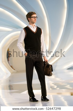 KUALA LUMPUR - MAY 8:: A model poses an outfit creation by Valentino Rudy during Licence To Styles fashion show on May 8,2010 in Kuala Lumpur Malaysia - stock photo